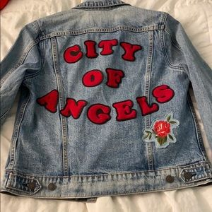 Lucky Brand City of Ángels Embroidered Jean Jacket
